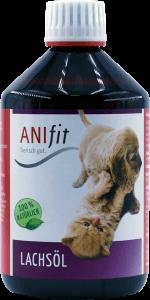 Lachsöl für das Hundefell