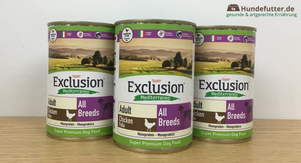Exclusion Mediterraneo Hundefutter