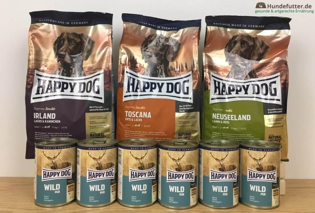 Happy Dog Hundefutter Test