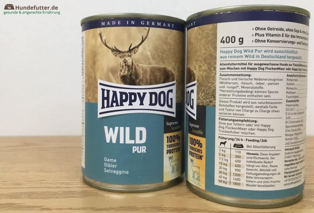 Happy Dog Nassfutter Wild pur