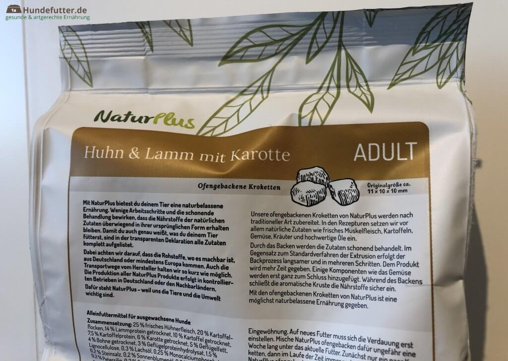 NaturPlus ofengebackenes Adult Hunde Trockenfutter