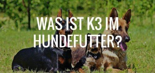 Was ist K3 im Hundefutter?