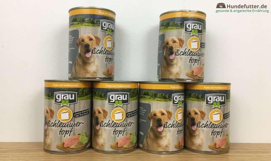 grau Schlemmertopf für Hunde