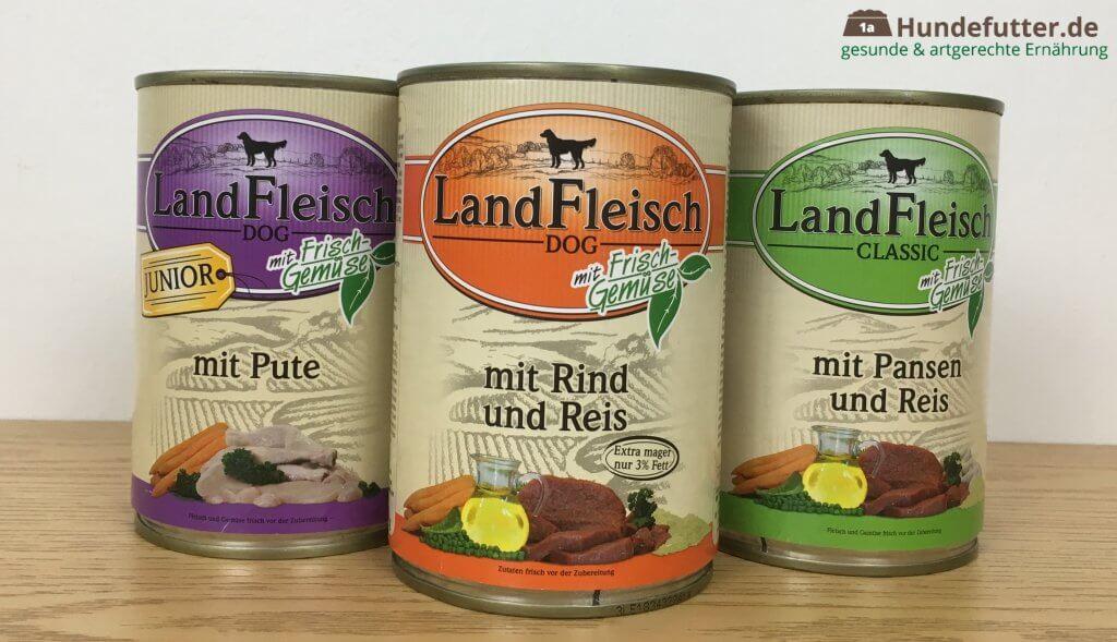 LandFleisch Nassfutter für Hunde